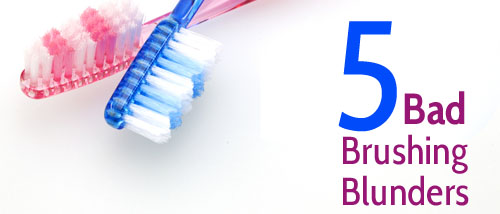 Brushing mistakes