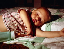 Baby Sleeping with Bottle at the Pediatric Dentist Office in Casa Grande, Mesa and Chandler, AZ