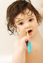 Child Brushing Teeth at the Pediatric Dentist Office in Casa Grande, Mesa and Chandler, AZ