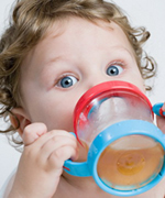 Toddler Drinking Out of Sippy Cup at the Pediatric Dentist Office in Casa Grande, Mesa and Chandler, AZ
